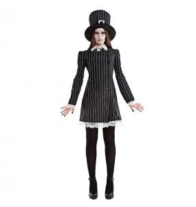 Fato de Miss Grimbone mulher para a noite de Halloween