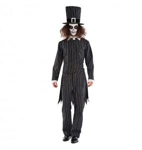 Fato de Mister Grimbone adulto para a noite de Halloween