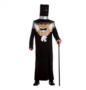 Fato de Cabeçudo Gótico adulto para a noite de Halloween
