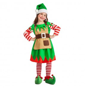 Disfarce Elfa Natalícia menina para que eles sejam com quem sempre sonharam