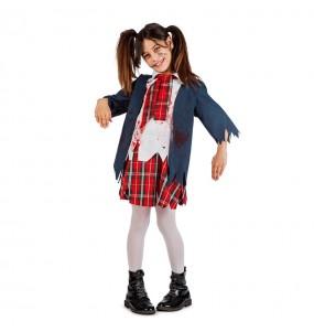 Disfarce Halloween Colegial Zombie meninas para uma festa Halloween