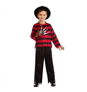 Disfarce Halloween Freddy Krueger meninos para uma festa do terror
