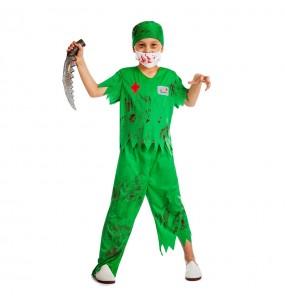 Disfarce Halloween Cirurgião Zombie meninos para uma festa do terror