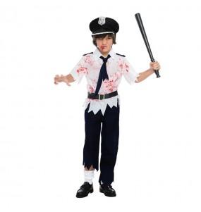 Disfarce Halloween Polícia Zombie meninos para uma festa do terror