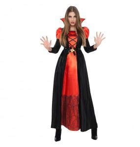 Fato de Vampiresa Dracula mulher para a noite de Halloween