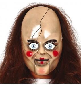 Máscara Annabelle para completar o seu fato Halloween e Carnaval