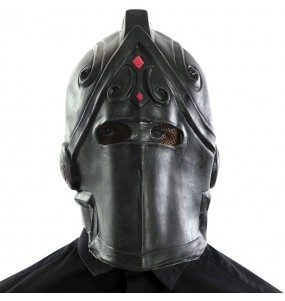 Máscara Black Knight de Fortnite para completar o seu fato Halloween e Carnaval