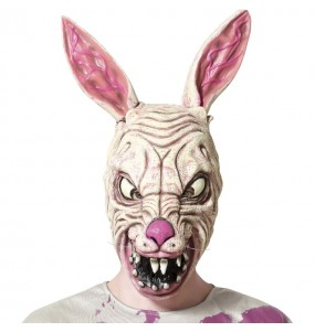 Máscara de coelho zombie