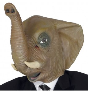 Máscara elefante de látex para completar o seu fato Halloween e Carnaval