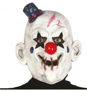 Máscara palhaço assassino de látex para completar o seu fato Halloween e Carnaval