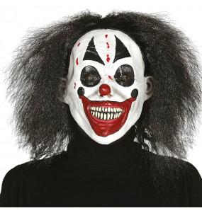 Máscara palhaço assassino com cabelo para completar o seu fato Halloween e Carnaval