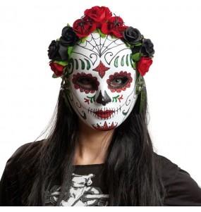 Máscara esqueleto Catrina do dia dos mortos
