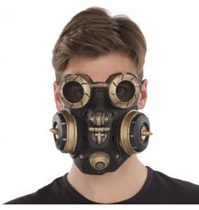 Máscara Gás Steampunk para completar o seu fato Halloween e Carnaval