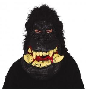 Máscara Gigante de Gorila com cabelo