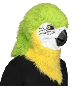 Máscara papagaio com mandíbula móvel para completar o seu fato Halloween e Carnaval