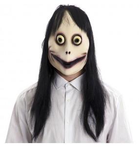 Máscara Momo para completar o seu fato Halloween e Carnaval