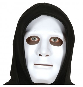 Máscara neutra branca para completar o seu fato Halloween e Carnaval