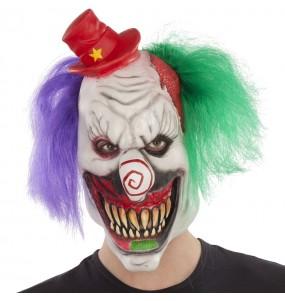 Máscara palhaço louco para completar o seu fato Halloween e Carnaval