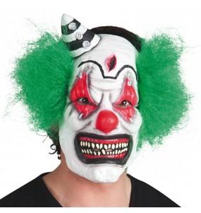 Máscara palhaço psicótico para completar o seu fato Halloween e Carnaval