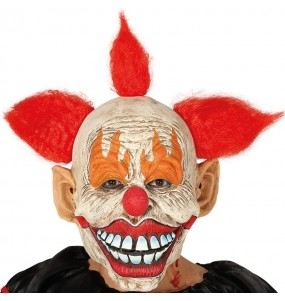 Máscara palhaço sinistro com cabelo para completar o seu fato Halloween e Carnaval