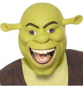 Máscara Shrek de látex para completar o seu fato Halloween e Carnaval