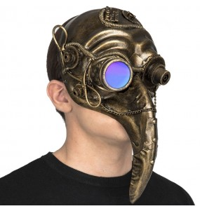 Máscara Pássaro Steampunk para completar o seu fato Halloween e Carnaval