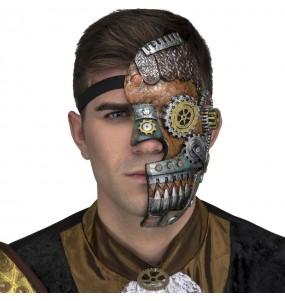 Máscara Retro Steampunk para completar o seu fato Halloween e Carnaval