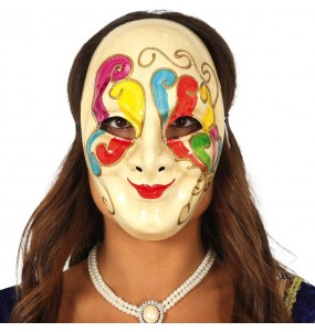 Máscara Veneziana Cores para completar o seu fato Halloween e Carnaval