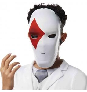 Máscara Wild Card Red de Fortnite para completar o seu fato Halloween e Carnaval