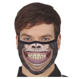 Máscara Chimpanzé de proteção para adulto