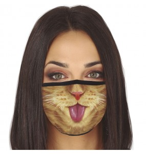Máscara Gato de proteção para adulto