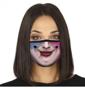 Máscara Harley Quinn de proteção para adulto