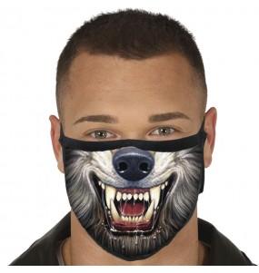 Máscara Lobisomem de proteção para adulto