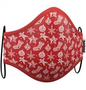 Máscara Natal Vermelha de proteção para adulto