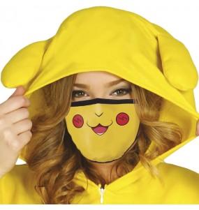 Máscara Pikachu de proteção para adulto