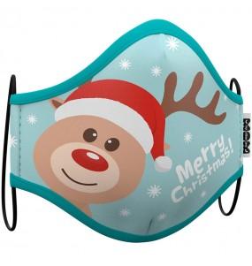 Máscara Rena Natal de proteção para adulto