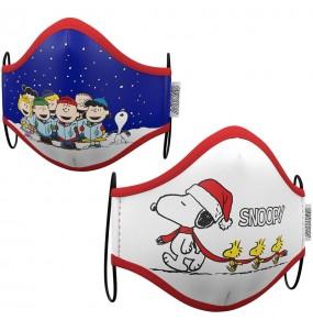 Máscara Snoopy Natal de proteção para adulto