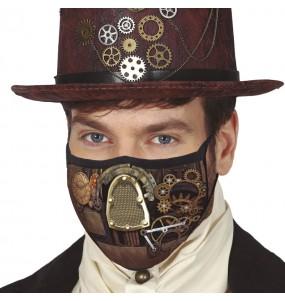 Máscara Steampunk de proteção para adulto