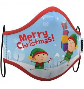 Máscara Elfo Natal de proteção para crianças