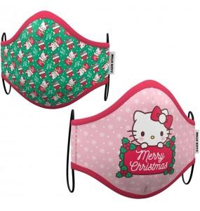 Máscara Hello Kitty Natal de proteção para crianças
