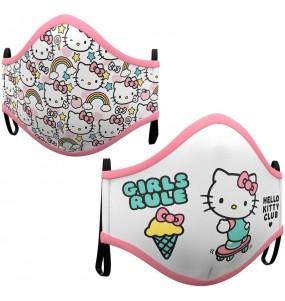 Máscara Hello Kitty de proteção para crianças