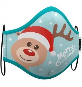 Máscara Rena Natal de proteção para crianças