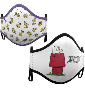 Máscara Snoopy House de proteção para crianças
