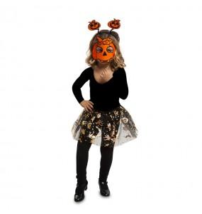 Disfarce Halloween Abóbora tutu meninas para uma festa Halloween