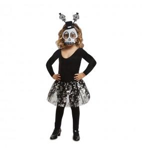 Disfarce Halloween Esqueleto tutu meninas para uma festa Halloween