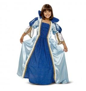 Disfarce princesa azul menina para que eles sejam com quem sempre sonharam