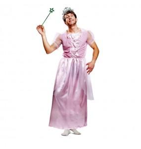 Disfarce Princesa Rosa travesti adulto divertidíssimo para qualquer ocasião