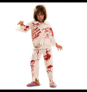 Disfarce Halloween Zombie pijama meninas para uma festa Halloween