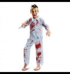 Disfarce Halloween Zombie pijama para meninos para uma festa do terror