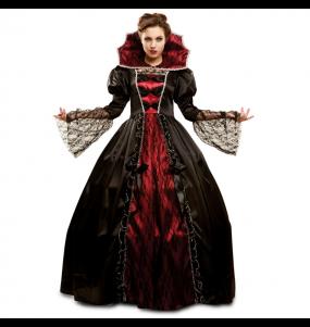 Fato de Vampiresa poderosa mulher para a noite de Halloween
